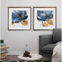 Ebern Designs 'Blue Note' 2 Piece Framed Print Set EBDG6759