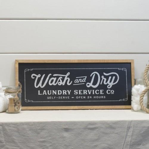 Gracie Oaks 'Modern Farmhouse Laundry Sign' Framed Textual Art on Wood BPQM1115