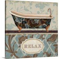 Great Big Canvas 'Bathroom Bliss I' by Lisa Audit Textual Art GRNG7950