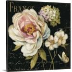 Great Big Canvas 'Marche de Fleurs on Black' by Lisa Audit Vintage Advertisement GRNG8483