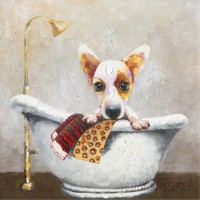 Harriet Bee 'Bath Time I' Painting Print on Wrapped Canvas HBEE5282