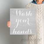 Ivy Bronx 'Wash Your Hands' Textual Art on Wrapped Canvas IVYB5870