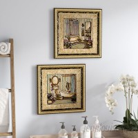Ophelia Co. Her Sanctuary' 2 Piece Framed Acrylic Painting Print Set Under Glass OPCO1360