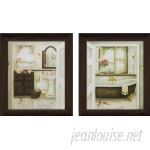 "PicturePerfectInternational ""Sink Bathtub"" 2 Piece Framed Painting Print on Canvas Set FCAC3801"