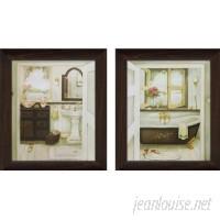 PicturePerfectInternational Sink Bathtub 2 Piece Framed Painting Print on Canvas Set FCAC3801