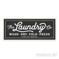 Stupell Industries 'Vintage Laundry Sign' Textual Art on Wrapped Canvas VYH3902