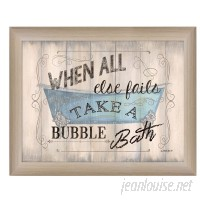 Trendy Decor 4U 'Take a Bubble Bath' Framed Textual Art HEND1459
