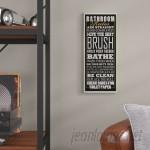 Trent Austin Design 'Bathroom Rules Tall Rectangle' Framed Textual Art On Wood TRNT2377