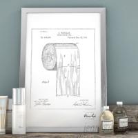 Trent Austin Design 'Toilet Paper Roll 1891' Framed Drawing Print TADN9220