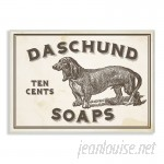Williston Forge 'Daschund Soap' Vintage Sign Textual Art WLFR5948