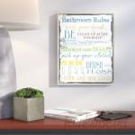Wrought Studio Tall Rectangle 'Bathroom' Textual Art VRKG5562