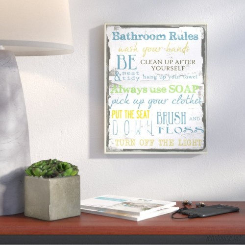 Wrought Studio Tall Rectangle 'Bathroom' Textual Art VRKG5562