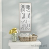 Zipcode Design 'Soothe Relax Calm Bath' Textual Art on Wood ZIPC8809