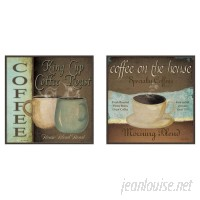 Andover Mills 'Kitchen Coffee Label' 2 Piece Framed Vintage Advertisement Set ANDV1894