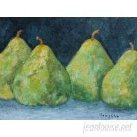 Buy Art For Less 'Pears' by Brendan Loughlin Painting Print on Wrapped Canvas BYAR2236