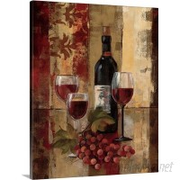 Canvas On Demand 'Graffiti and Wine II' by Silvia Vassileva Painting Print on Canvas CAOD6947