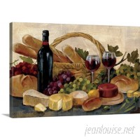 Canvas On Demand 'Tuscan Evening Wine' by Silvia Vassileva Painting Print on Canvas CAOD6975