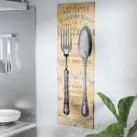 East Urban Home 'Cuisine I' Vintage Advertisement on Wrapped Canvas ESRB8806