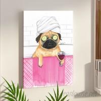 East Urban Home 'Pug Bath' Print on Canvas UBNH9666