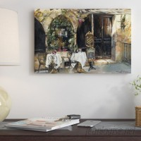 East Urban Home Meeting at the Cafe' Painting Print on Canvas ESHM7026