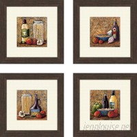 Fleur De Lis Living 'Kitchen Rustic' 4 Piece Framed Painting Print Set QTM1169