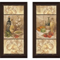 Fleur De Lis Living 'Tuscan Kitchen I' 2 Piece Framed Acrylic Painting Print Set FDLL4836