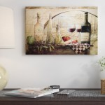 Fleur De Lis Living 'Tuscan Vineyard Wine' Graphic Art Print on Canvas FDLL7371