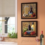 Fleur De Lis Living Rustic Kitchen IV' 2 Piece Framed Acrylic Painting Print Set Under Glass FDLL2741