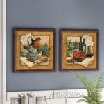 Fleur De Lis Living Secret Ingredient' 2 Piece Framed Acrylic Painting Print Set Under Glass FDLL2738