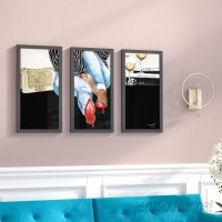 House of Hampton 'Waiting on You' Framed Painting Print Multi-Piece Image on Glass HOHM6155
