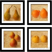 Imagine Letters Inc. 'Fruit Art' by Neeva Kedem 4 Piece Framed Photographic Print Set IMLI1017