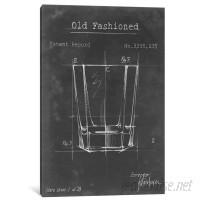 Laurel Foundry Modern Farmhouse 'Barware Blueprint I' Graphic Art Print on Canvas LFMF2259