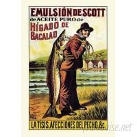 Loon Peak 'Scott's Emulsion of Cod Oil' Vintage Advertisement LNPK4871
