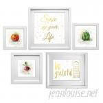 Mercury Row 'Kitchen Collage' 5 Piece Framed Graphic Art Set MCRW5235