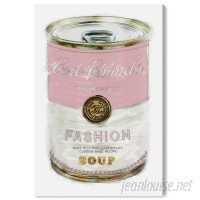 Oliver Gal 'Fashion Soup Pink' Graphic Art Print on Wrapped Canvas OLGL4085