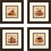 Red Barrel Studio 'Kitchen Torta Alpine' 4 Piece Framed Vintage Advertisement Set RDBT5807