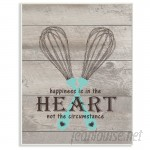 Stupell Industries Happiness Is In The Heart Whisks' Textual Art VYH3908