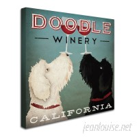 Winston Porter 'Doodle Wine' Framed Graphic Art Print on Canvas WNST5322
