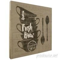 Winston Porter 'Linen Coffee lll' Graphic Art Print on Wood JJM51951