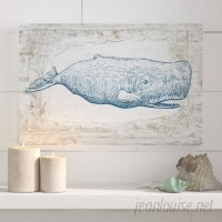 Beachcrest Home 'Blue Whale Nautical Art' Wrapped Canvas Print BCHH4840