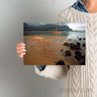 Beachcrest Home 'Hanalei Bay at Dawn'' Photo Graphic Print on Canvas SEHO2307