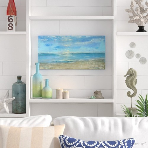 Beachcrest Home 'Morning View' Oil Painting Print on Canvas BCMH2546