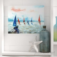 Beachcrest Home 'Sailing Boats Regatta' Painting Print on Wrapped Canvas BCHH4151