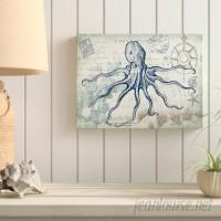 Breakwater Bay 'Seaside Postcard: Octopus' Graphic Art Print on Wrapped Canvas BKWT3307