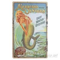 Design Toscano 'Mermaid Oysters' Vintage Advertisement on Metal TXG9021