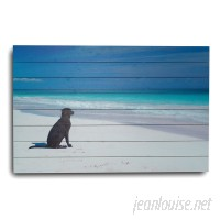 "Gallery 57 ""Dog at the Beach"" Photographic Print GAFS1027"