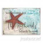 Stupell Industries Personalized Beach House with Starfish Wall Plaque Art VYH3552