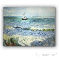 WexfordHome 'Seascape at Saintes Maries' by Vincent Van Gogh Oil Painting Print on Wrapped Canvas WEXF1192