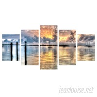 Zipcode Design 'Calm Waters' Multi-Piece Image Photographic Print on Canvas ZPCD2758