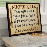 Andover Mills 'Kitchen Rules' Framed Textual Art ANDV1275